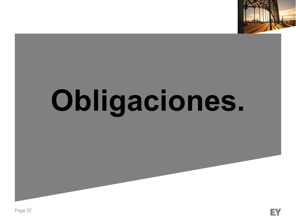 Page 22 Obligaciones.