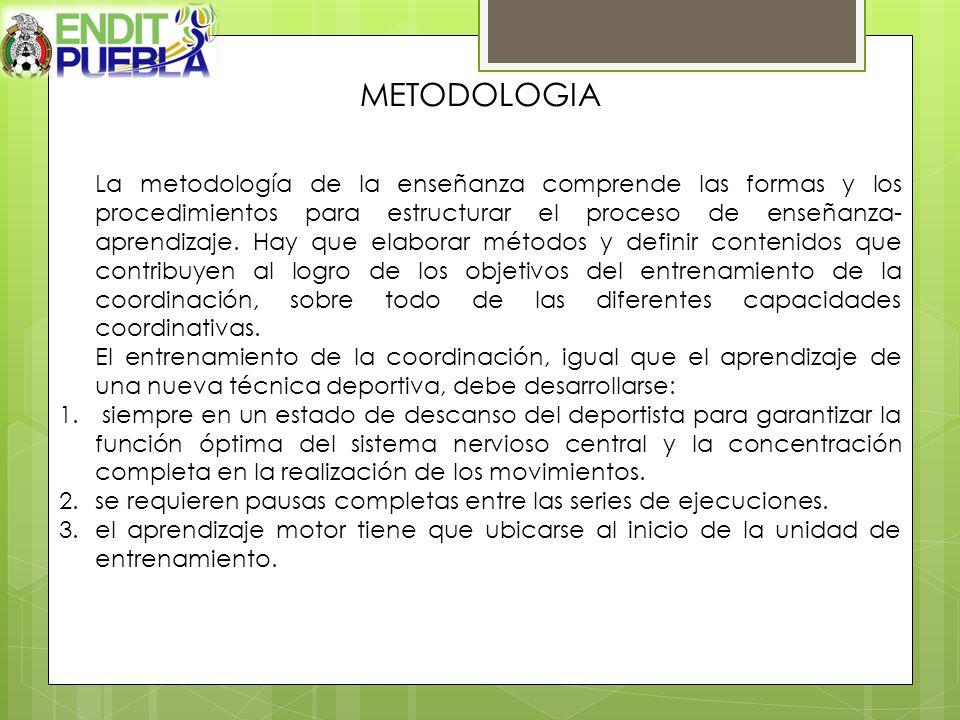 METODOLOGIA La metodología de la enseñanza comprende las formas y los procedimientos para estructurar el proceso de enseñanza- aprendizaje. Hay que el