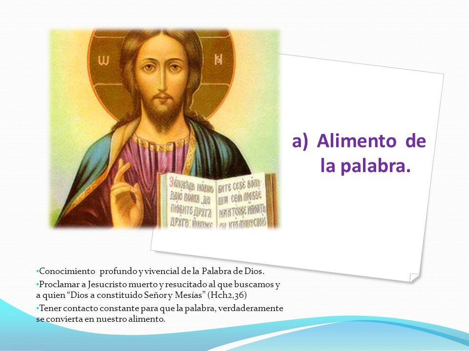 b) Alimento de la Eucaristía La sagrada liturgia, en especia la celebración de los sacramentos de iniciación cristiana.