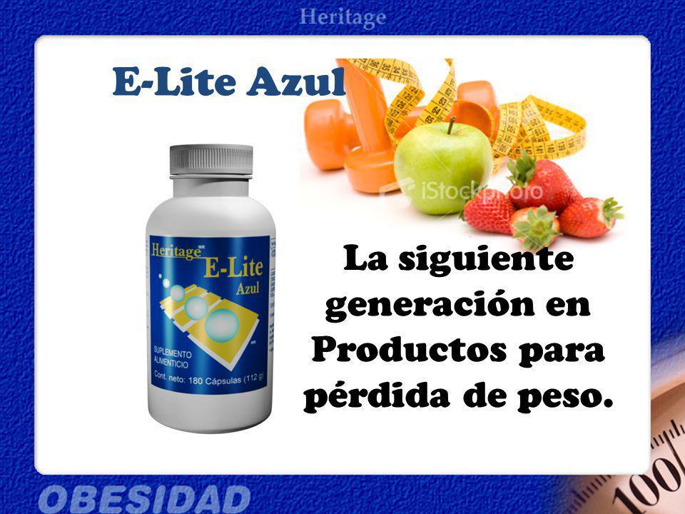 La siguiente generación en Productos para pérdida de peso. E-Lite Azul