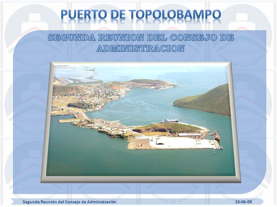Segunda Reunión del Consejo de Administración 23-06-09 Arribo de Embarcaciones Enero-Marzo 2009