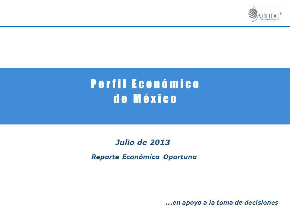 P e r f i l E c o n ó m i c o d e M é x i c o Julio de 2013 Reporte Económico Oportuno … en apoyo a la toma de decisiones