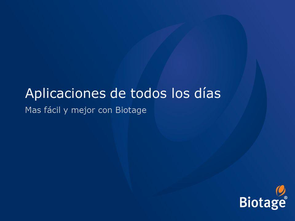 © 2012 Biotage 22 Aplicaciones de todos los días Mas fácil y mejor con Biotage