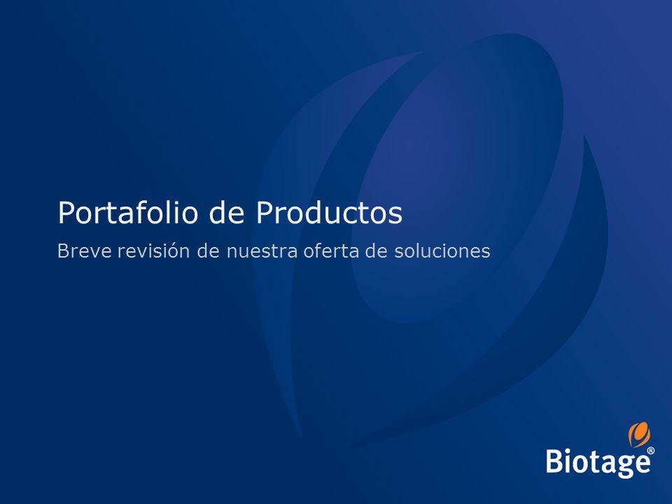 © 2012 Biotage 9 Portafolio de Productos Breve revisión de nuestra oferta de soluciones