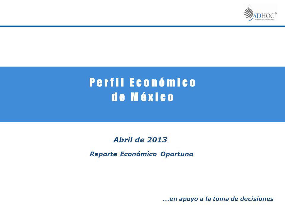 P e r f i l E c o n ó m i c o d e M é x i c o Abril de 2013 Reporte Económico Oportuno … en apoyo a la toma de decisiones
