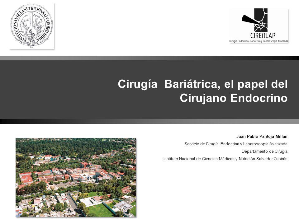 D Cirugía BariátricaPantoja Cirugía Bariátrica, el papel del Cirujano Endocrino Juan Pablo Pantoja Millán Servicio de Cirugía Endocrina y Laparoscopía