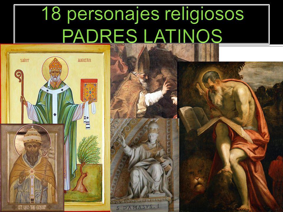 Agustín de Hipona 354-430 Ambrosio de Milán 339-397 Hilario de Poitiers 315-367 León I el Grande 380-461 Jerónimo de Estridón 347-420 Dámaso I de Roma 304-384
