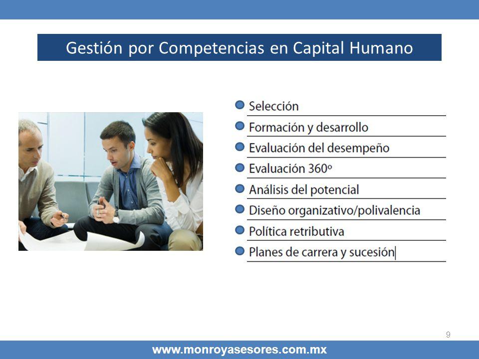9 www.monroyasesores.com.mx Gestión por Competencias en Capital Humano