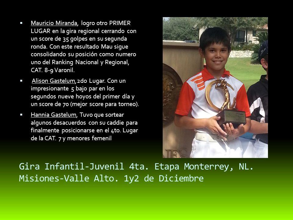 Gi ra Infantil-Juvenil 4ta. Etapa Monterrey, NL. Misiones-Valle Alto.