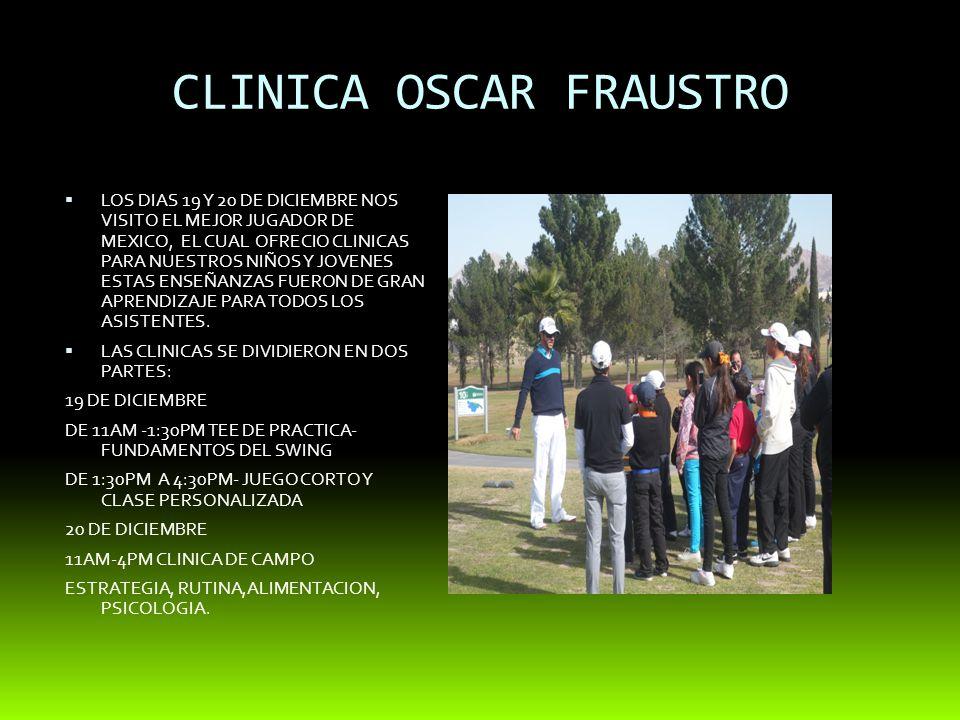 CLINICA OSCAR FRAUSTRO LOS DIAS 19 Y 20 DE DICIEMBRE NOS VISITO EL MEJOR JUGADOR DE MEXICO, EL CUAL OFRECIO CLINICAS PARA NUESTROS NIÑOS Y JOVENES ESTAS ENSEÑANZAS FUERON DE GRAN APRENDIZAJE PARA TODOS LOS ASISTENTES.