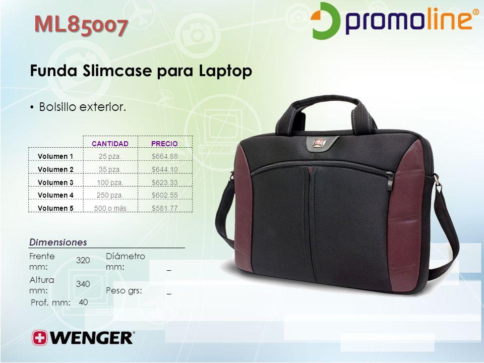 ML85007 Funda Slimcase para Laptop Bolsillo exterior.