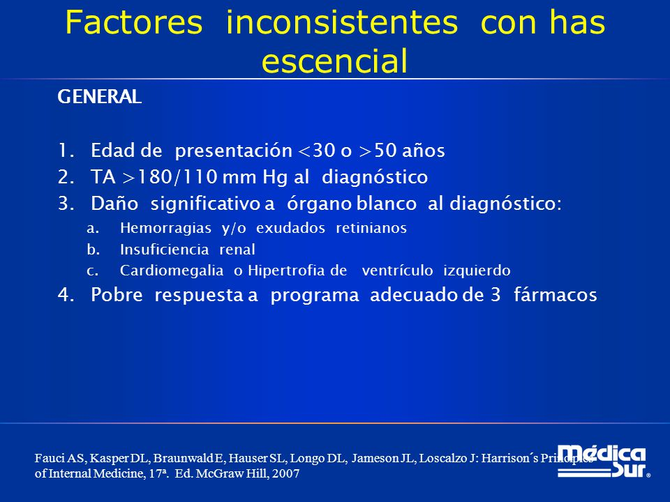 REFERENCIAS 1.Fauci AS, Kasper DL, Braunwald E, Hauser SL, Longo DL, Jameson JL, Loscalzo J: Harrison´s Principles of Internal Medicine, 17ª.