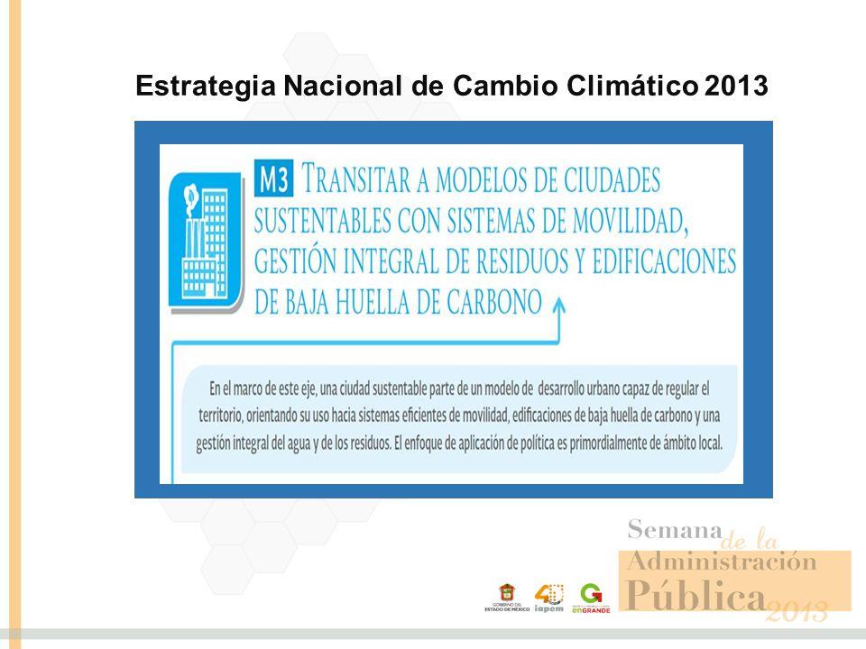 Estrategia Nacional de Cambio Climático 2013 5