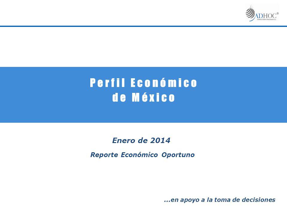 P e r f i l E c o n ó m i c o d e M é x i c o Enero de 2014 Reporte Económico Oportuno … en apoyo a la toma de decisiones