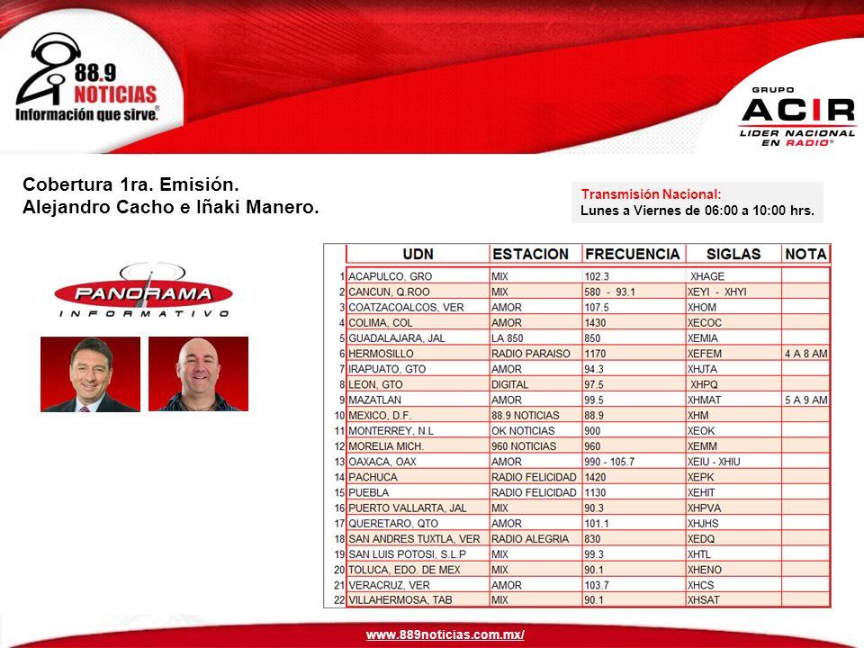 Cobertura 1ra.Emisión. Alejandro Cacho e Iñaki Manero.