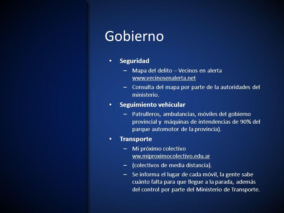 Gobierno Seguridad – Mapa del delito – Vecinos en alerta www.vecinosenalerta.net – Consulta del mapa por parte de la autoridades del ministerio.