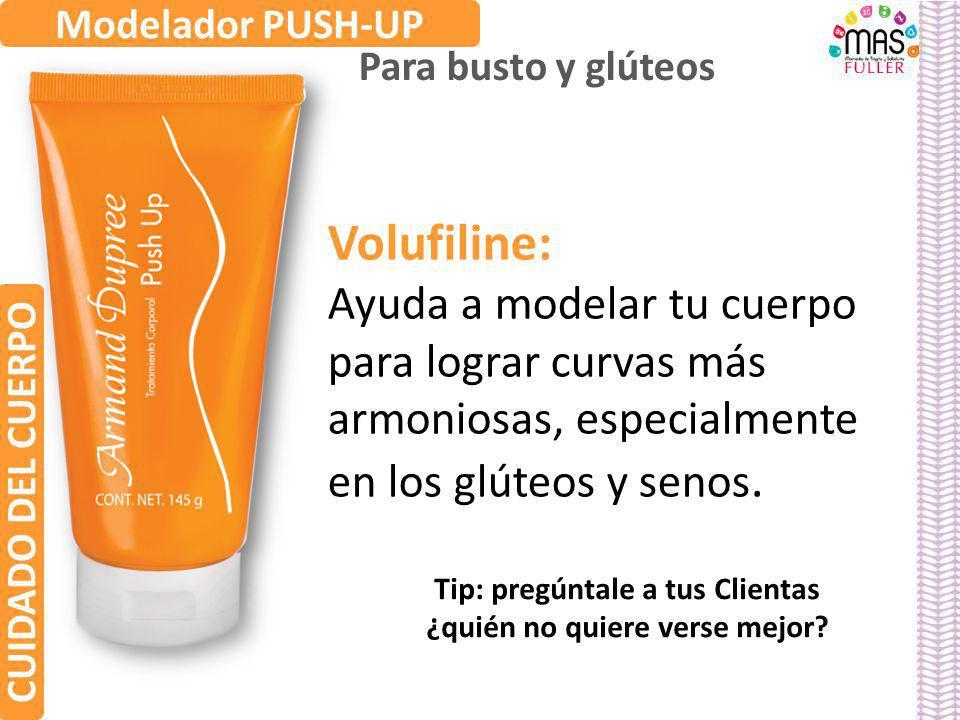 Volufiline: Ayuda a modelar tu cuerpo para lograr curvas más armoniosas, especialmente en los glúteos y senos. Modelador PUSH-UP Para busto y glúteos