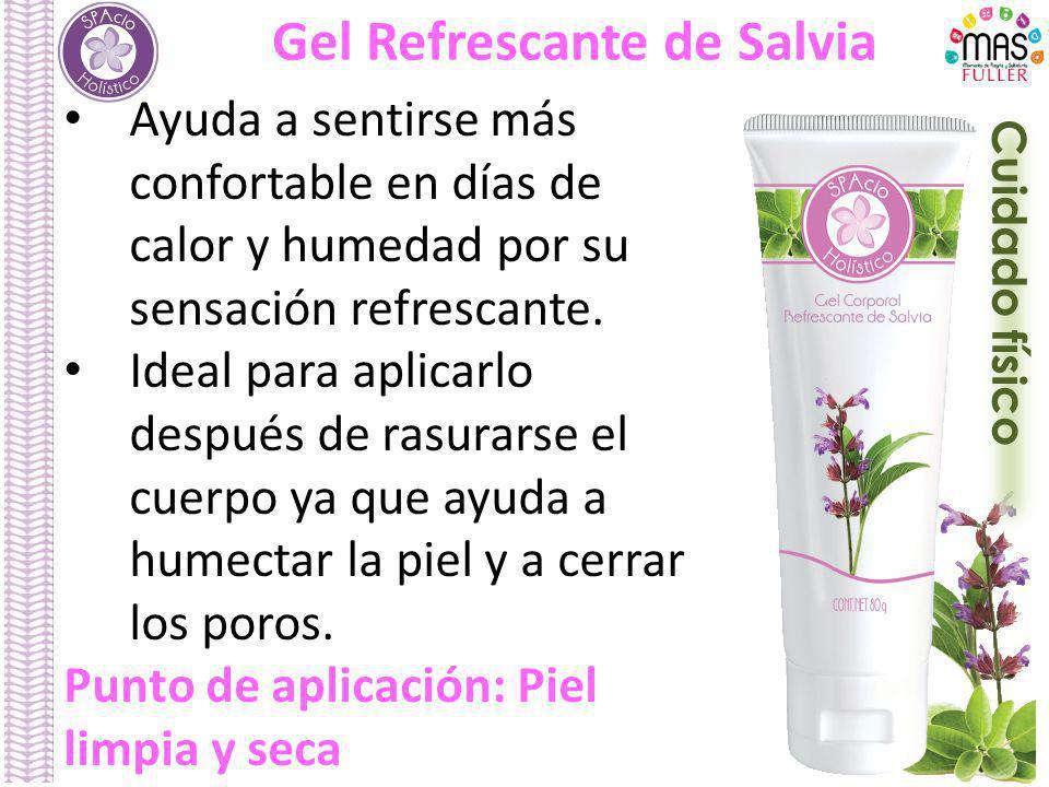Cuidado físico Gel Refrescante de Salvia Ayuda a sentirse más confortable en días de calor y humedad por su sensación refrescante.