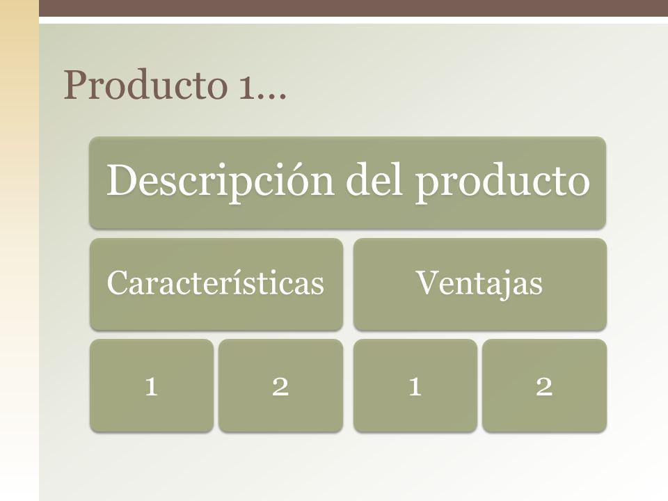 Descripción del producto Características12Ventajas12 Producto 1…