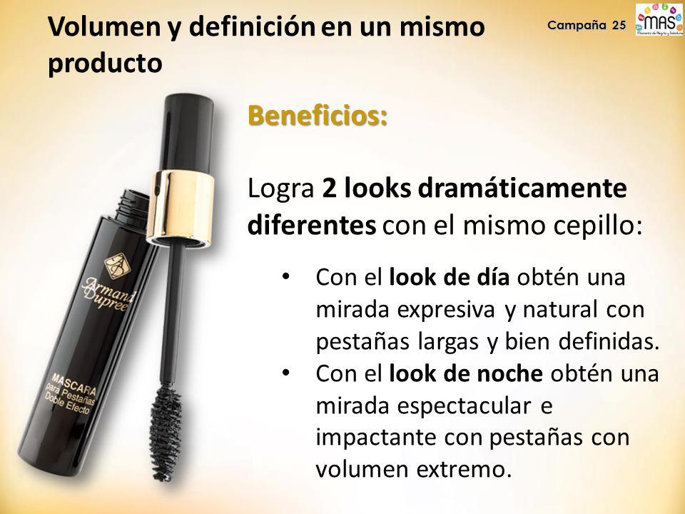 Beneficios: Logra 2 looks dramáticamente diferentes con el mismo cepillo: Con el look de día obtén una mirada expresiva y natural con pestañas largas