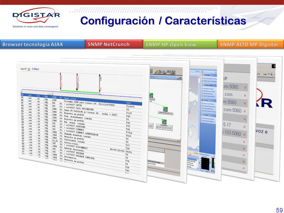 59 Configuración / Características