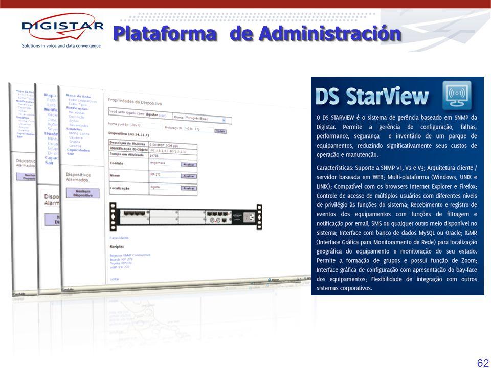 62 Plataforma de Administración