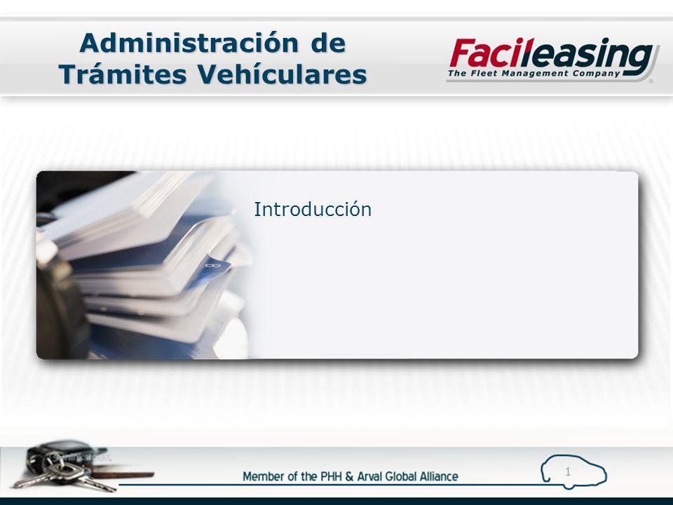 Administración de Trámites Vehículares Introducción 1