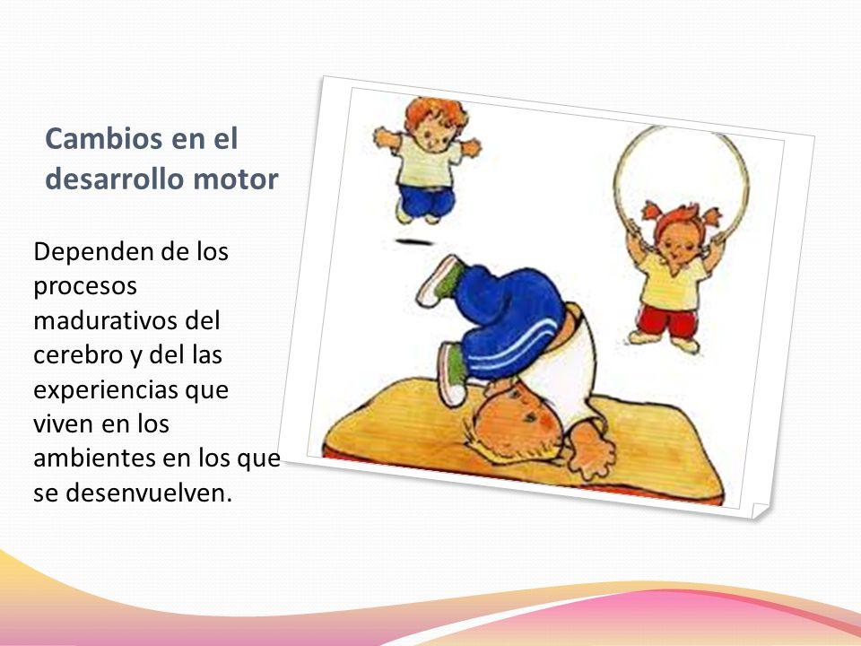 DESARROLLO MOTRIZ Las capacidades motrices se desarrollan más rápidamente cuando los niños se hacen más conscientes de su cuerpo y se atreven a enfrentar nuevos desafíos en los que ponen a prueba estas capacidades.