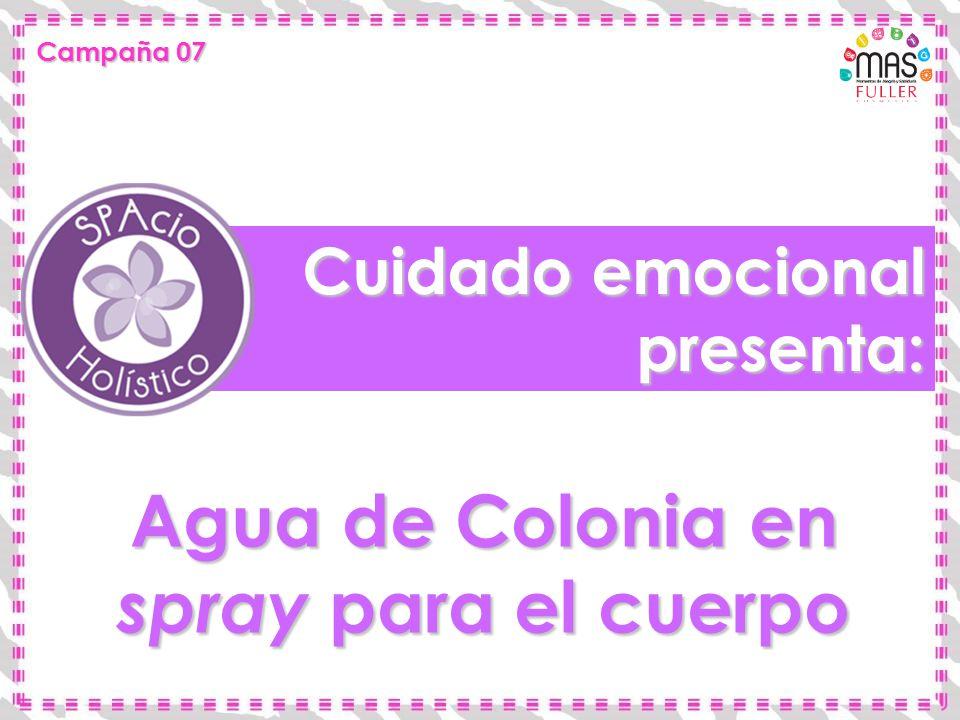 Cuidado emocional presenta: Agua de Colonia en spray para el cuerpo Campaña 07