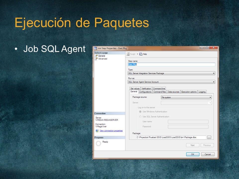 Ejecución de Paquetes Job SQL Agent