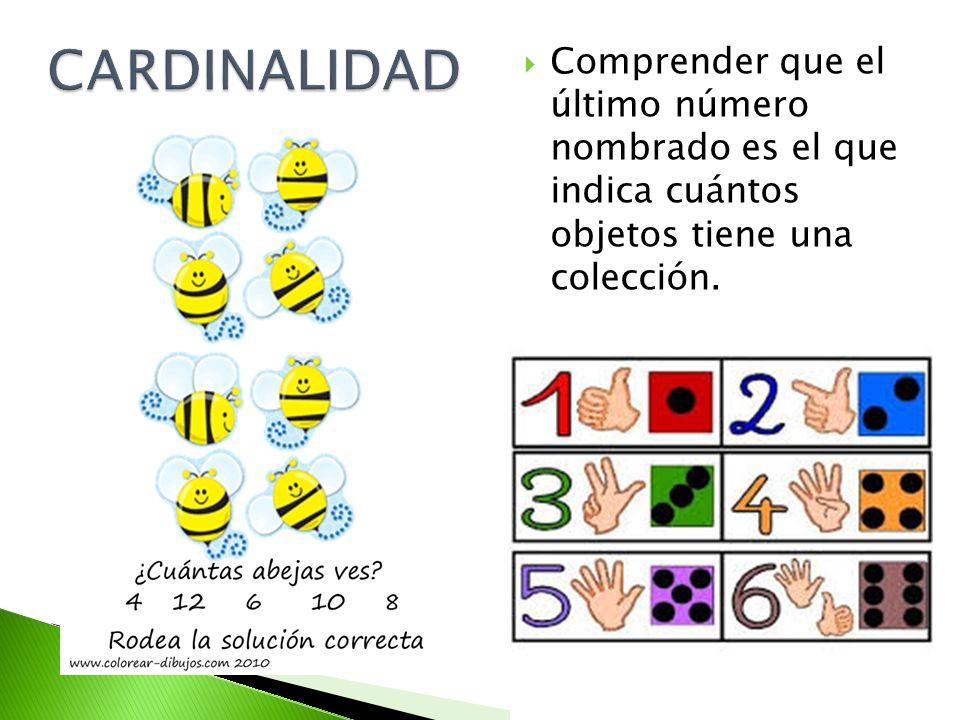 El número de una serie es independiente de las cualidades de los objetos que se estén contando, la regla para contar es la misma para contar colecciones iguales que colecciones de distintos objetos.