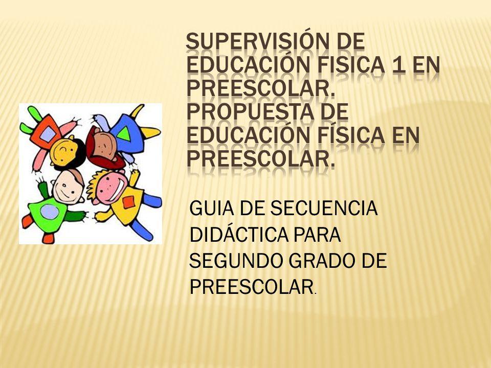 GUIA DE SECUENCIA DIDÁCTICA PARA SEGUNDO GRADO DE PREESCOLAR.