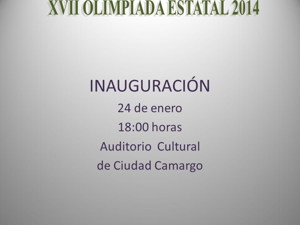 INAUGURACIÓN 24 de enero 18:00 horas Auditorio Cultural de Ciudad Camargo