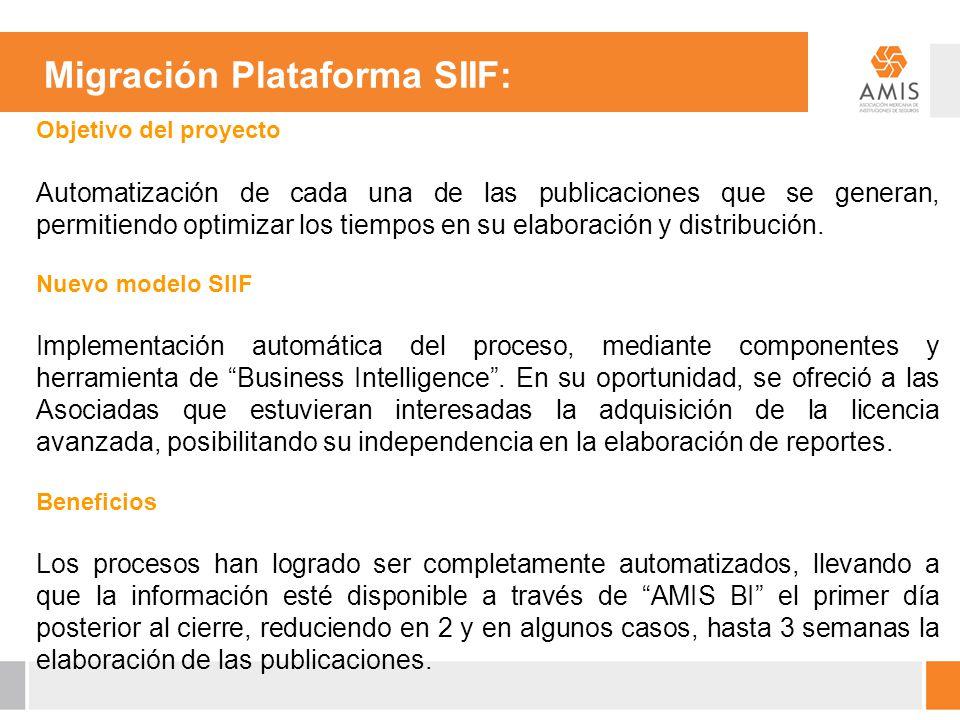 Migración Plataforma SIIF: Objetivo del proyecto Automatización de cada una de las publicaciones que se generan, permitiendo optimizar los tiempos en