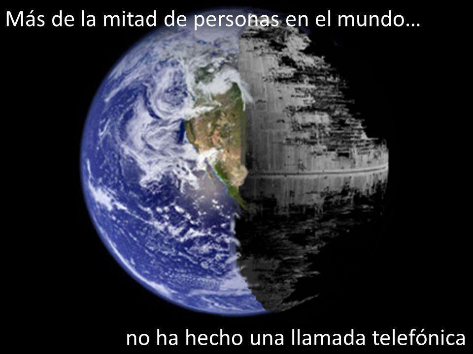 Más de la mitad de personas en el mundo… no ha hecho una llamada telefónica