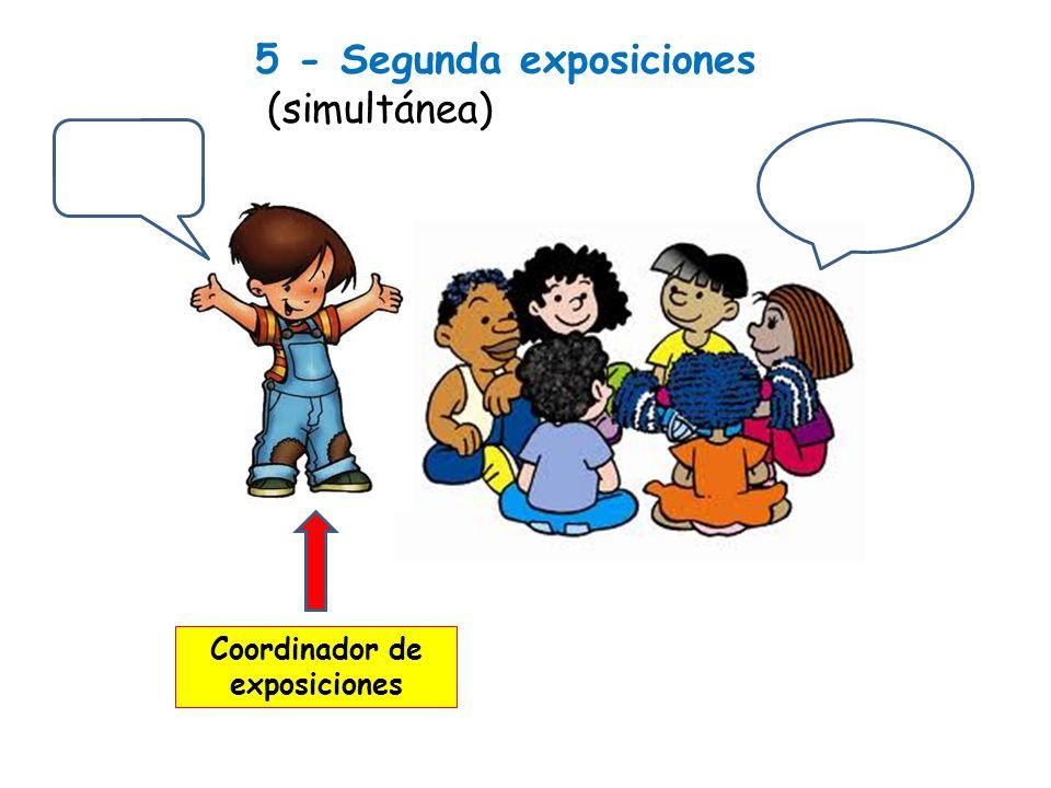 5 - Segunda exposiciones (simultánea) Coordinador de exposiciones