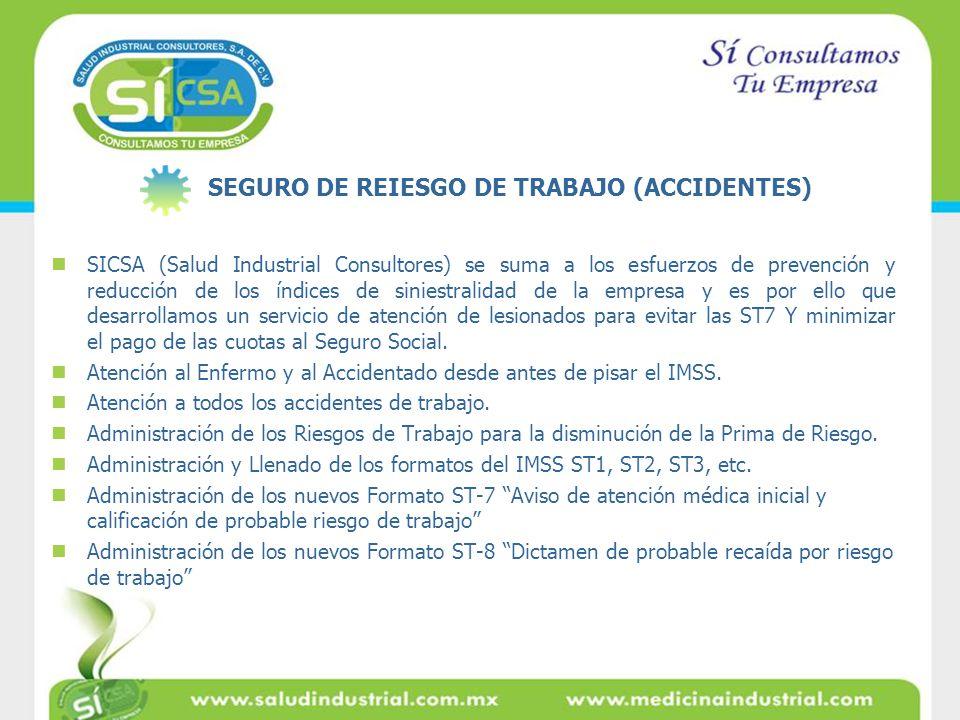 SICSA (Salud Industrial Consultores) se suma a los esfuerzos de prevención y reducción de los índices de siniestralidad de la empresa y es por ello qu