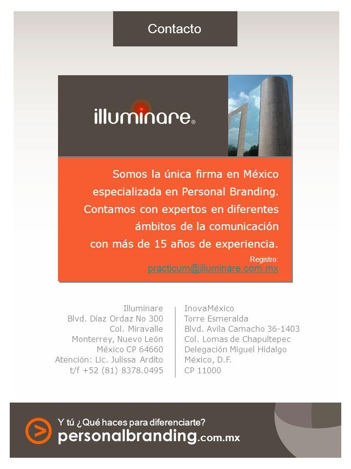 Somos la única firma en México especializada en Personal Branding.