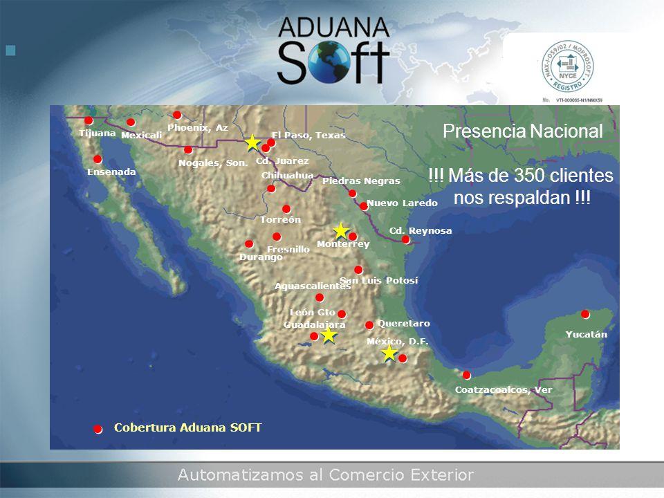 San Luis Potosí Presencia Nacional !!.Más de 350 clientes nos respaldan !!.