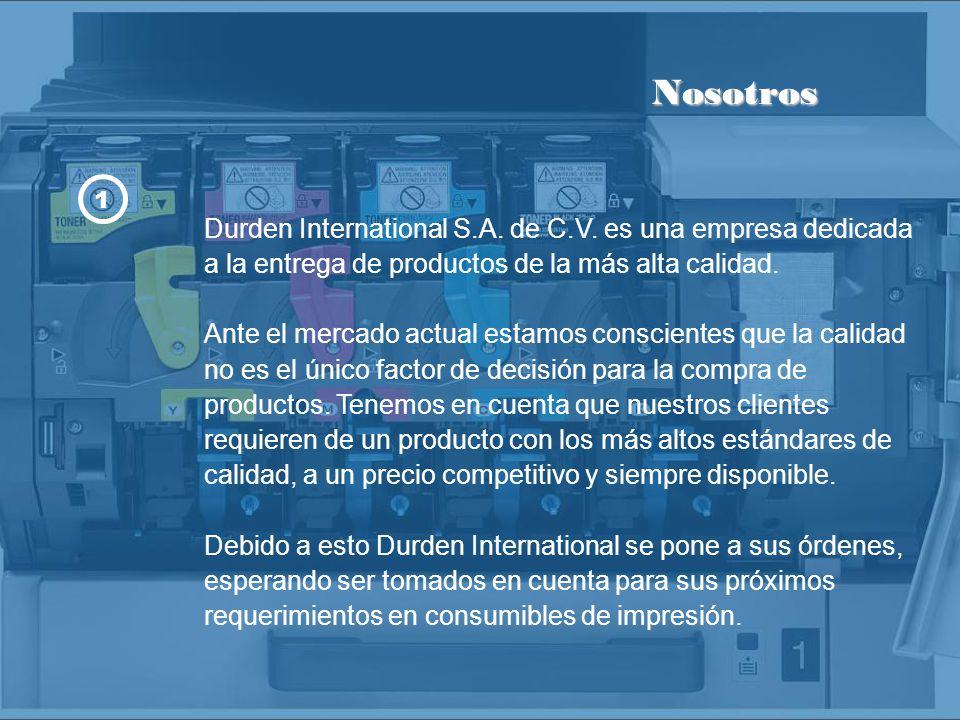 Los Consumibles Durden International están hechos con las más altas normas de calidad, contando con certificados ISO 9001 e ISO 14001 y garantía sobre cualquier defecto de fabricación.