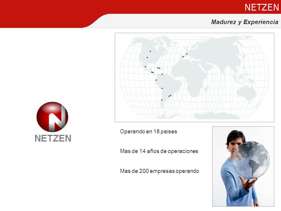 Madurez y Experiencia Operando en 16 paises Mas de 14 años de operaciones Mas de 200 empresas operando