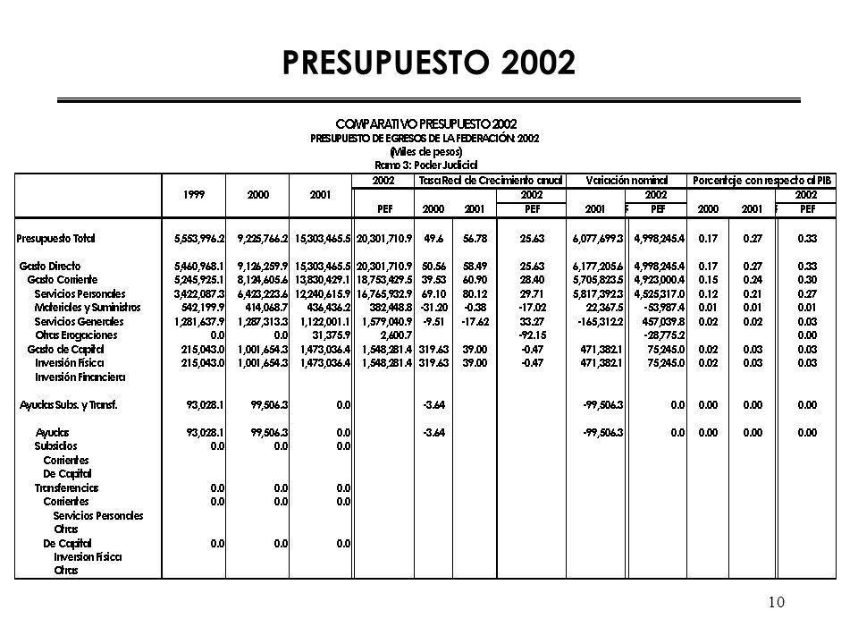 10 PRESUPUESTO 2002