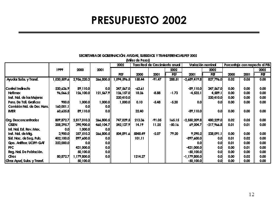 12 PRESUPUESTO 2002