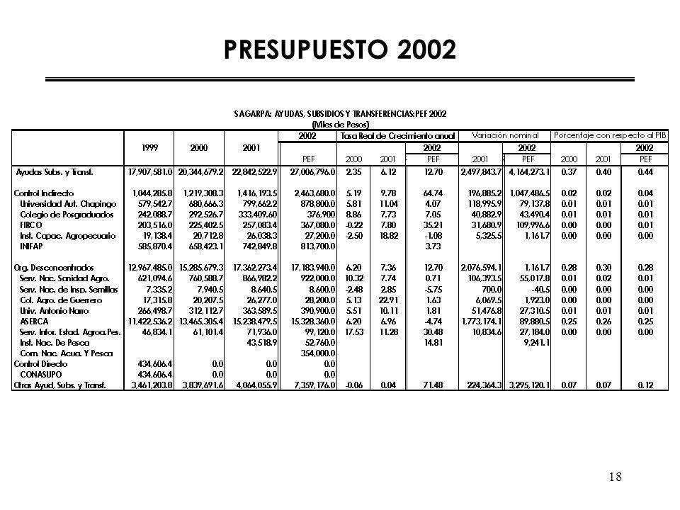 18 PRESUPUESTO 2002