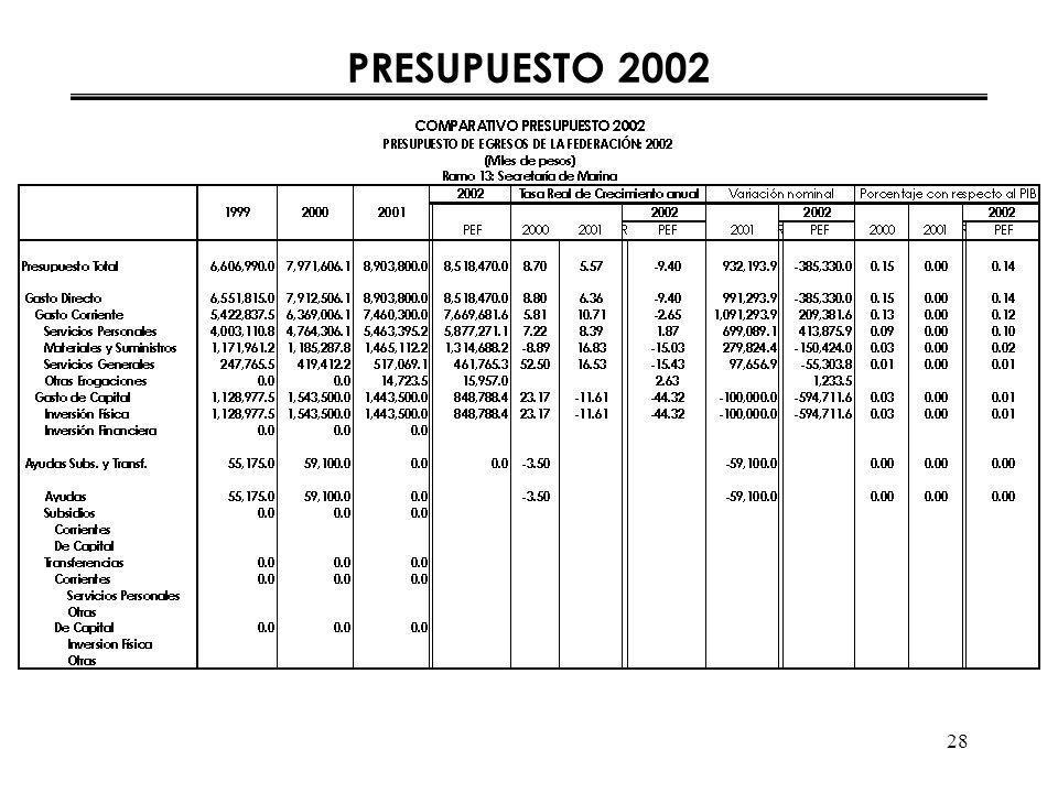28 PRESUPUESTO 2002