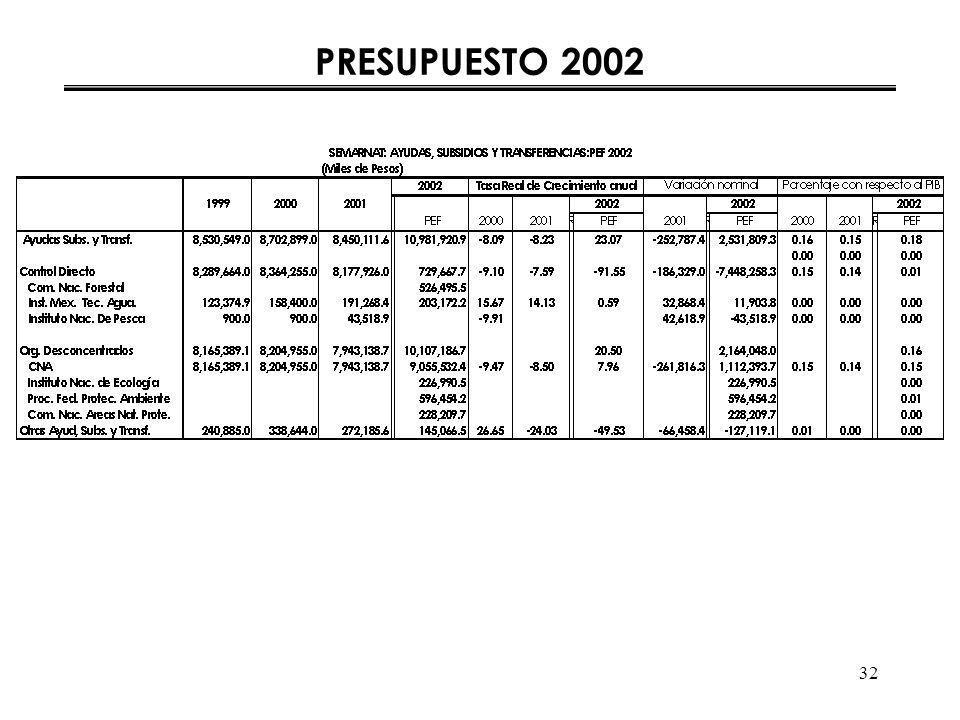 32 PRESUPUESTO 2002