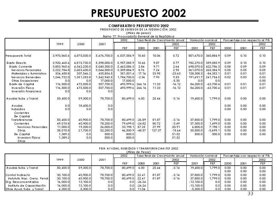33 PRESUPUESTO 2002