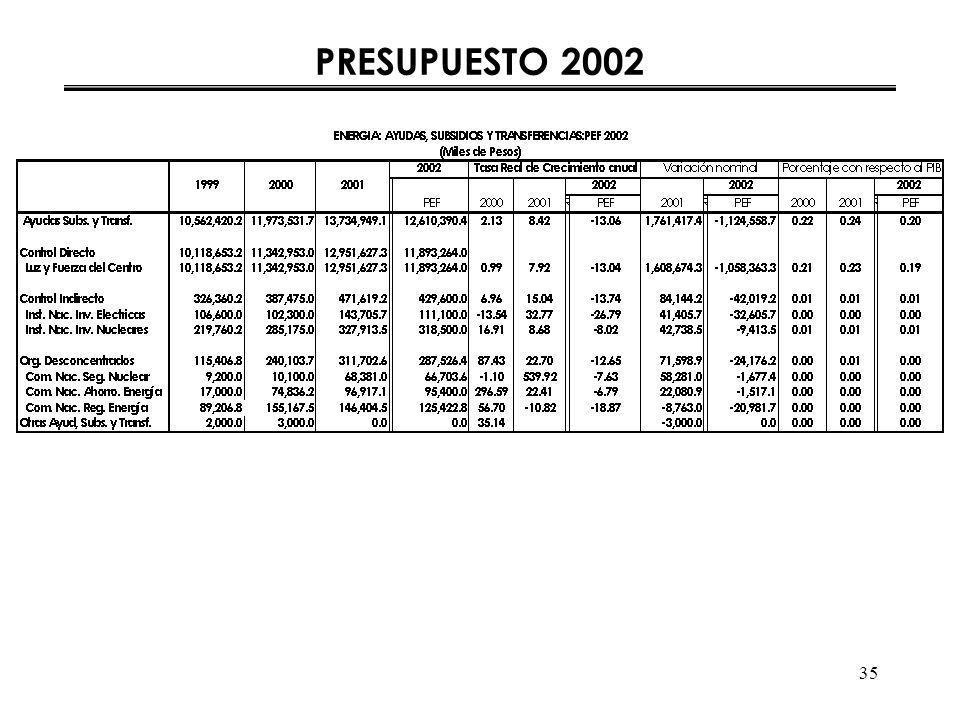 35 PRESUPUESTO 2002