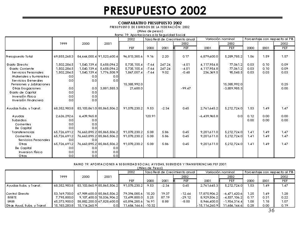 36 PRESUPUESTO 2002