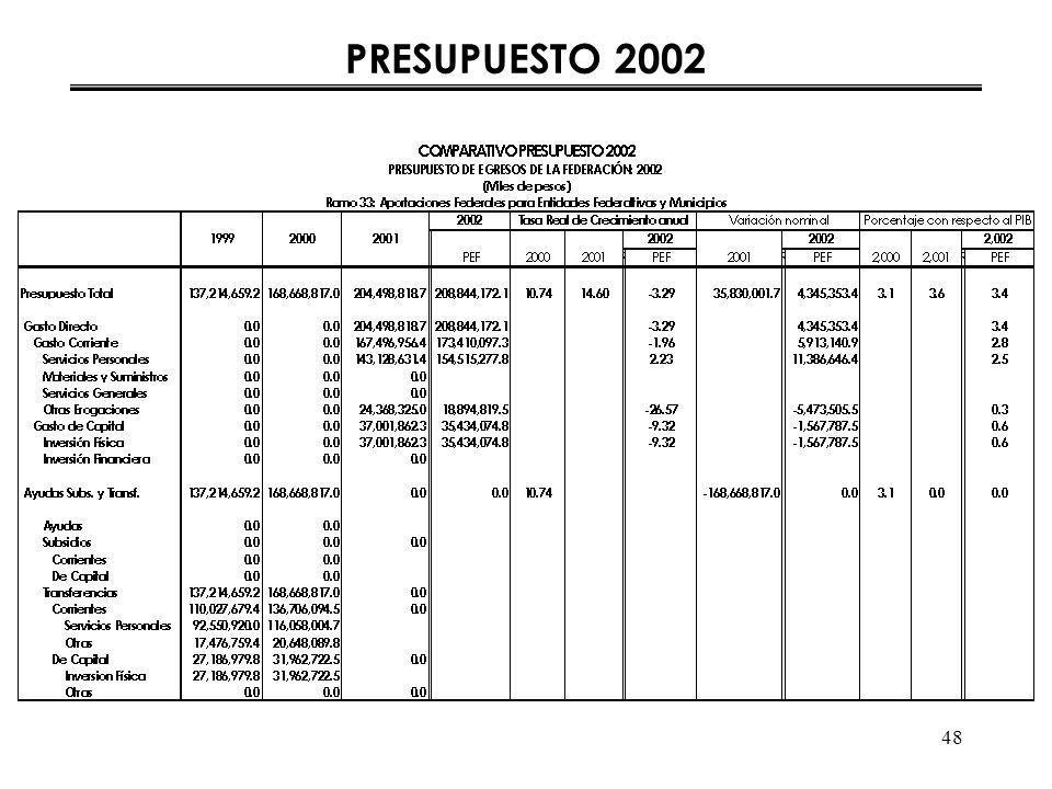48 PRESUPUESTO 2002